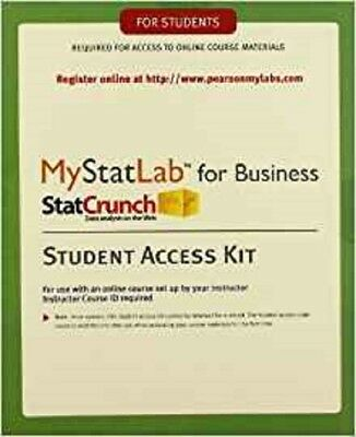 Mystatlab access card 7499 picclick mystatlab with etext for business statistics standalone access card fandeluxe Gallery