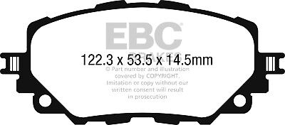 EBC Yellowstuff Front Brake Pads for Mazda MX5 Mk4 (ND) 2.0 (160 BHP) (2015 on)