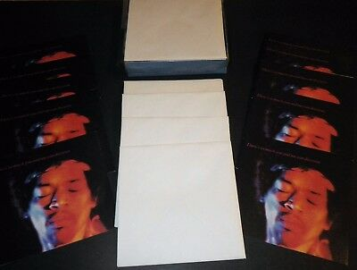 1968 JIMI HENDRIX GREETING CARDs - FULL BOX (10 Cards with eps) - Beautiful EX!