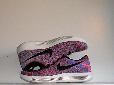 5a8db87cc49d New Nike Women s Lunarepic Low Flyknit Running Shoes Blue Pink 843765 406  SZ 10