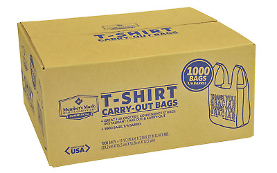 Thank You Bags T-Shirt Shopping Carryout Grocery Store Bodega 1000 Ct Recyclable