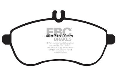 EBC Yellowstuff Front Pads Mercedes C Class Estate S204 C300 4-Matic 07 > 14