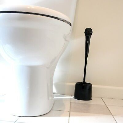 Microphone Toilet Brush Perfect Bathroom Gift For Him Her Novelty Present Loo