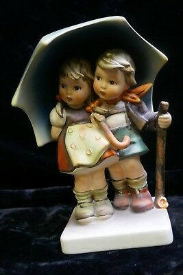 Vintage Hummel Stormy Weather Figurine HUM - 71 By Goebel TMK - 5