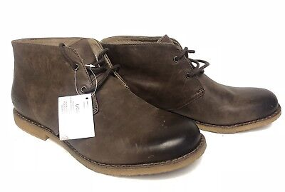 e5142aa9726 UGG Australia Leighton Leather WP Waterproof Desert Boots Grizzly Brown  1017272