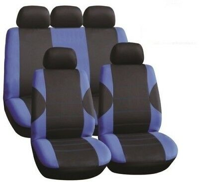 Dacia Logan 1.5 dCi Ambiance 5d 2016 LUXURY SEAT COVER SET BLACK & BLUE RACE