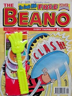 BEANO + BIG FREE GIFT !! 1st MARCH 1997 (27 Feb-5 Mar) FAB 21st BIRTHDAY GIFT !!
