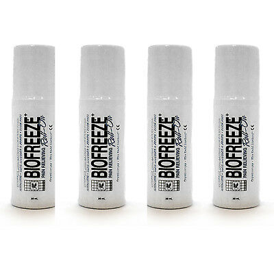 Biofreeze Pain Relief for Arthritis, 3 oz. Roll-on(Pack of 4)