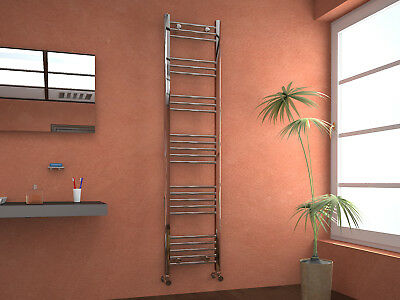 VeeBath Westbury Straight Heated 22mm Towel Rail Radiator 400x1800 Chrome