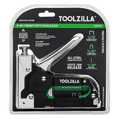 TOOLZILLA® Heavy Duty Staple Gun & 600 Staple Pack Upholstery