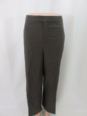Linda Allard Ellen Tracy Gray Pleated Dress Pants Trousers Slacks Size 14