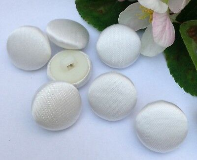 BRIDAL BUTTONS SATIN COVERED BUTTONS IVORY WEDDING DRESS HAND MADE 9mm-14mm