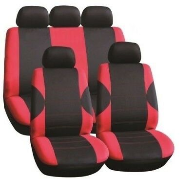 Dacia Logan 1.5 dCi Ambiance 5d 2016 LUXURY SEAT COVER SET BLACK & RED RACE