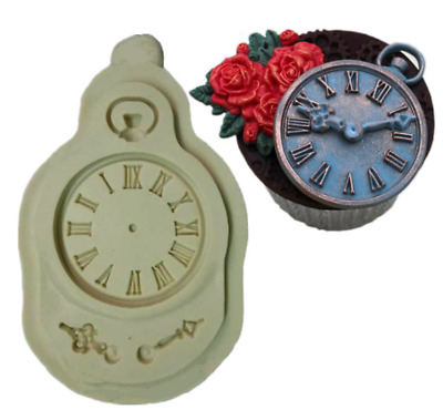 SM544 Clock face Silicone Mould Mold Paperclay Cake Decorating Mixed Media