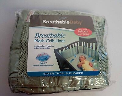 BreathableBaby Breathable Mesh Crib Liner- Soft Lime