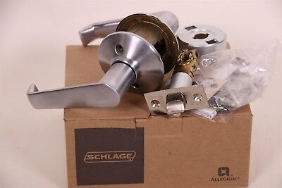 Schlage Elan Commercial UL Rated Passage Door Lever Satin Chrome F10CF ELA 626