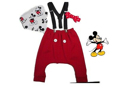 Cake Smash Boy Baby Boys Mickey Mouse 1st Birthday Outfit Handmade