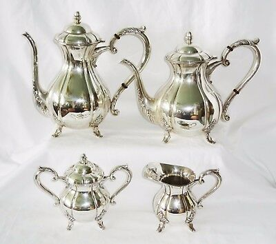 4Pc Vintage 1950s Japanese 950 Sterling Silver Coffee & Tea Service Set (Lon)