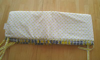 Pam Grace Creations Crib Rail Guard Cover, Yellow/Argyle Giraffe Collection