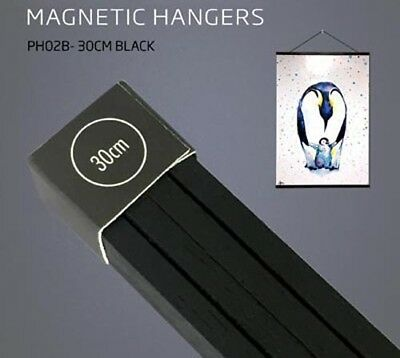 Poster Hanger Set - Magnetic Timber 30cm Black #6