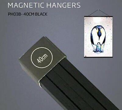 Poster Hanger Set - Magnetic Timber 40cm Black #4