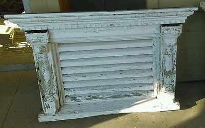 Architectural Salvage 1870 Victorian Attic Window Louvre Vent Pediment