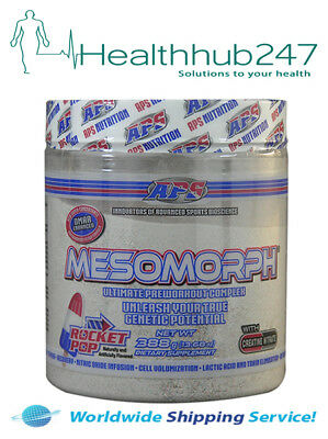 APS MESOMORPH ORIGINAL FORMULA PREWORKOUT Rocket Pop  EXPRESS DEL