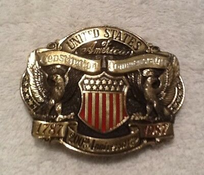 United States of America Constitution 200th Anniversary 1787 - 1987 Belt Buckle