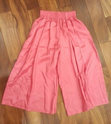 Vintage 80s Womens Culottes Gauchos Cropped Pants Pink High Waisted Sz Small 2 4
