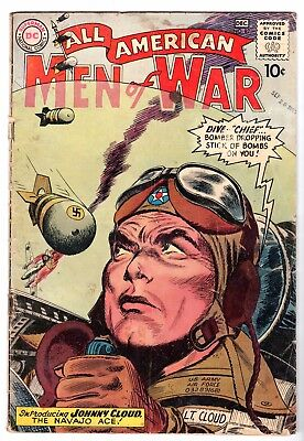 All American Men of War #82 - Introducing Johnny Cloud, Very Good Condition*