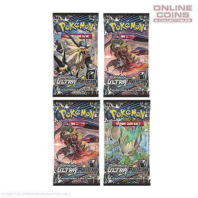 POKEMON TCG Sun & Moon ULTRA PRISM 4 x10 Card Booster Packs 40 CARDS TOTAL