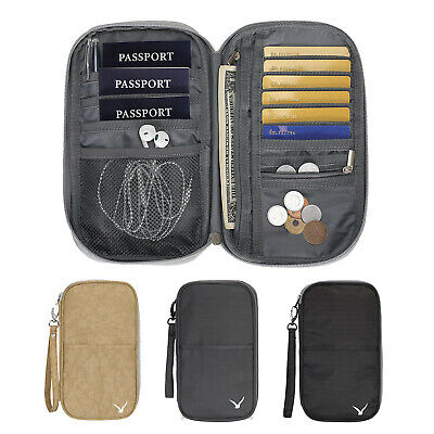 Hynes Eagle RFID Blocking Passport Wallet Travel Document Organizer Holder Gifts