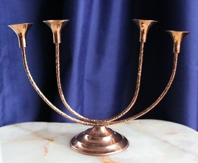 Gorgeous Retro COPPER CANDLEBRA Or CANDLE HOLDER By RODD