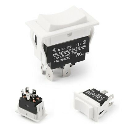 Momentary  Rocker Switch for Polarity Reversing DC Motor Control, (ON) OFF (ON)