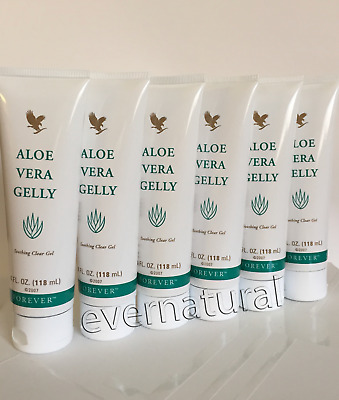 Bulk of 6 Forever Aloe Vera Gelly 4 fl.oz (118 ml) each.