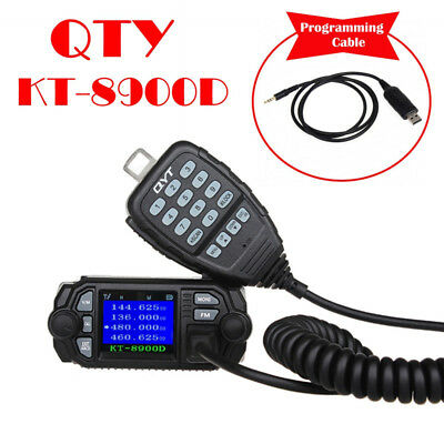 QYT KT-8900D Dual Band UHF Quad-Standy Car Mobile Radio+Free Programming Cable