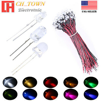 1.8 2 3 5 8 10mm Water Clear LED Diodes White Red Blue RGB Kits Assorted Lights