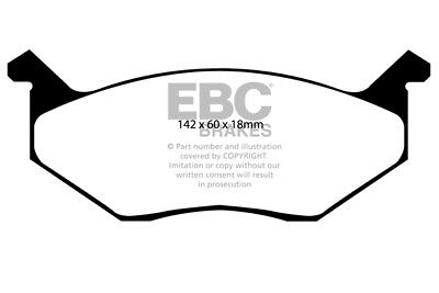 EBC Yellowstuff Front Brake Pads for Plymouth Roadrunner 7.2 (73 > 75)