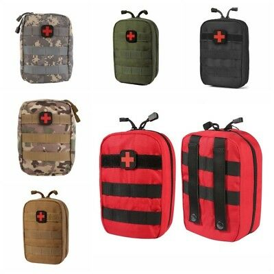 Tactical Emergency Travel Carry Bags EMT Medical First Aid Kit Outdoor Pouch UK
