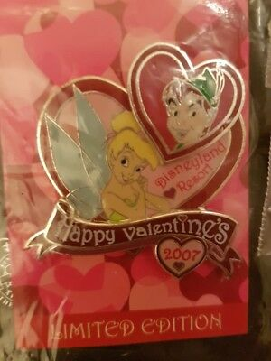 Disney Happy Valentines Day 2007 Tinker Bell & Peter Pan LE Pin