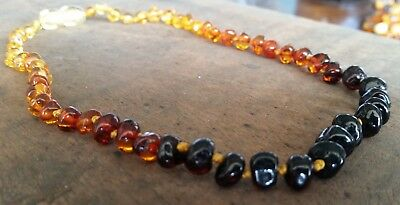 Genuine Baltic Amber Child Necklace - MULTI RAINBOW - Jewellery Beads FREE POST