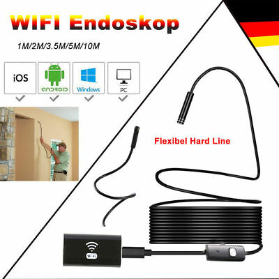 3.5/5/10m Wasserdichte 8 Leds1080P Endoskop WIFI Box Inspektion Borescope Kamera