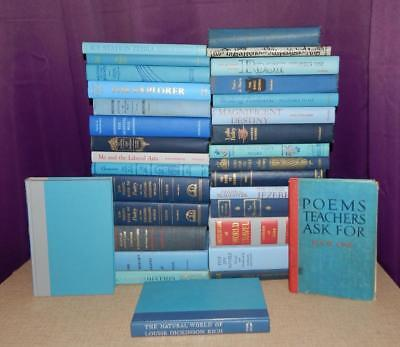 Lot Of 10 Mixed Unsorted Blue Vintage Hardcover Books