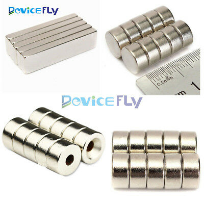 5/10PCS Super Round Strong Fridge Magnets Rare-Earth Neodymium Magnet N50 N52