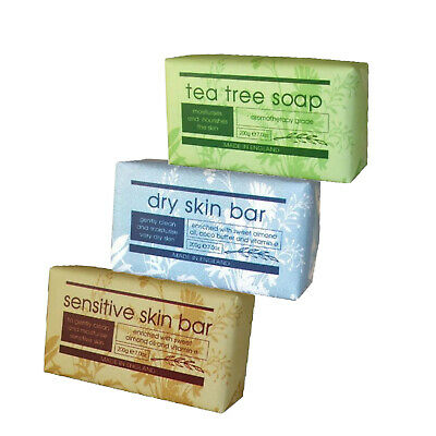 Therapeutic Soap Bars 200g Moisturising Face Hands & Body Soaps By Christina May