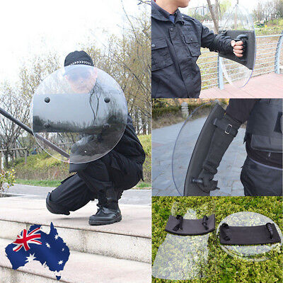 Transparent Protection PC Hand-Held Shield Police SWAT Riot Shield For Security