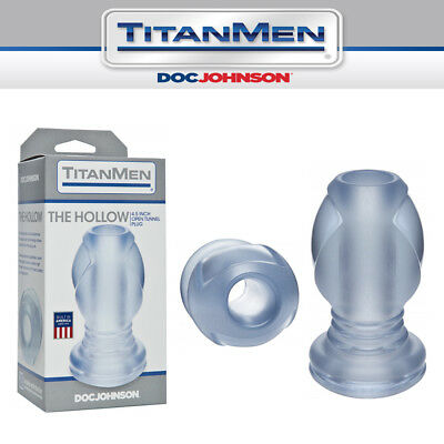 Plug anale tunnel aperto Doc Johnson TitanMen The Hollow 4.5 Inch open tunnel