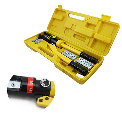Hydraulic Crimper 16Ton Crimping Force Tube Terminal Lug Battery Cable Wire Tool