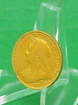 1899 Gold Full Sovereign - Queen Victoria- Great Britain - Km785