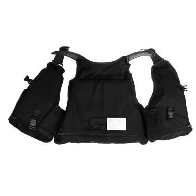 Multi-pocket Fly Fishing Chest Waterproof Bag Vest Outdoor Adjustable Black